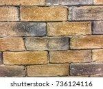 old grunge brick wall... | Shutterstock . vector #736124116