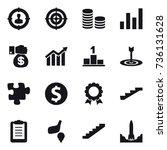 16 vector icon set   target... | Shutterstock .eps vector #736131628