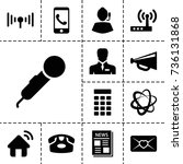 communication icon. set of 13...   Shutterstock .eps vector #736131868