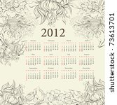 Floral Calendar For 2012