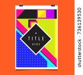 trendy geometric elements... | Shutterstock .eps vector #736139530