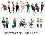 flat and isolated business... | Shutterstock .eps vector #736142740