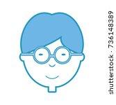 cartoon boy icon | Shutterstock .eps vector #736148389