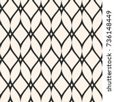 Mesh seamless pattern, thin wavy lines. Texture of lace, weaving, smooth lattice. Subtle monochrome geometric background. Design for prints, fabric, cloth, textile, decor, furniture. - Stock vector