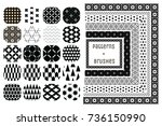 20 vector geometric patterns... | Shutterstock .eps vector #736150990