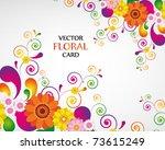 gift card. floral design...