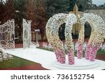 Wedding Altar Made Of Archs Of...