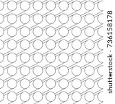 vector abstract seamless... | Shutterstock .eps vector #736158178