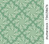 indian pattern. arabic  islamic ... | Shutterstock .eps vector #736158676