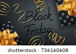 black friday. banner for winter ... | Shutterstock .eps vector #736160608