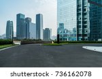 windows of skyscraper business... | Shutterstock . vector #736162078
