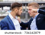 two young businessmen having a... | Shutterstock . vector #736162879