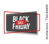 black friday sale banner with... | Shutterstock .eps vector #736166800
