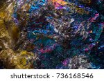 psychedelic colors on a stone...   Shutterstock . vector #736168546