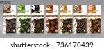 nuts packaging set   1 | Shutterstock .eps vector #736170439
