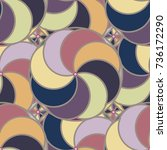 abstract color seamless pattern ... | Shutterstock . vector #736172290