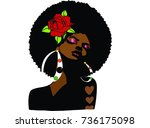 Beautiful Black Woman With Afr...