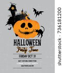 halloween party. vector... | Shutterstock .eps vector #736181200
