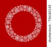 christmas vintage snowflakes... | Shutterstock .eps vector #736182133
