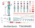 nurse in hospital uniform... | Shutterstock .eps vector #736184683