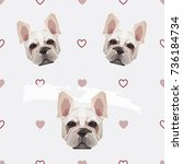 cute seamless pattern with... | Shutterstock .eps vector #736184734