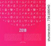 christmas celebration concept... | Shutterstock .eps vector #736188040