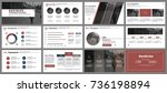 business presentation slides... | Shutterstock .eps vector #736198894