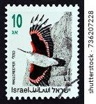 israel   circa 1992  a stamp... | Shutterstock . vector #736207228