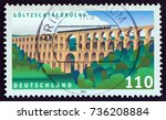 germany   circa 1999  a stamp... | Shutterstock . vector #736208884