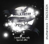 black friday sale poster ads.... | Shutterstock .eps vector #736213324