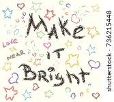 make it bright cute vector... | Shutterstock .eps vector #736215448