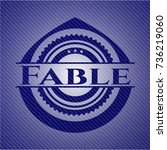 fable with jean texture | Shutterstock .eps vector #736219060