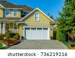 garage  garage doors and... | Shutterstock . vector #736219216