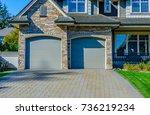 garage  garage doors and... | Shutterstock . vector #736219234