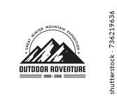 outdoor adventure   vector logo ... | Shutterstock .eps vector #736219636