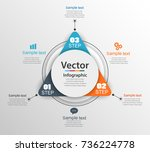 infographic design template can ... | Shutterstock .eps vector #736224778