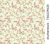 little liberty flower pattern ... | Shutterstock . vector #736229620