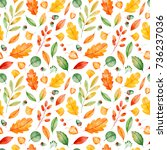 seamless pattern with high... | Shutterstock . vector #736237036