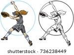 vector clip art cartoon... | Shutterstock .eps vector #736238449