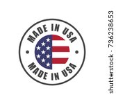 """made in usa"" badge with usa... 