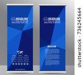 roll up business brochure flyer ... | Shutterstock .eps vector #736245664