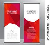 roll up business brochure flyer ... | Shutterstock .eps vector #736245688