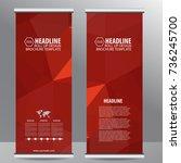 roll up business brochure flyer ... | Shutterstock .eps vector #736245700