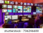 blurred image video switch of... | Shutterstock . vector #736246600
