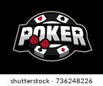 poker game  logo emblem on a...   Shutterstock .eps vector #736248226