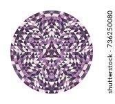 Round Geometrical Triangle...