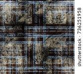 seamless pattern tartan design. ... | Shutterstock . vector #736251958