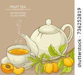 apricot tea illustration   Shutterstock .eps vector #736252819