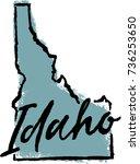 hand drawn idaho state design | Shutterstock .eps vector #736253650