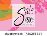 sale advertisement banner on... | Shutterstock .eps vector #736255834